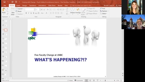Thumbnail for entry 2021 05 04 Coping Through Change with Dr. Ron Camp II, Dean of of Faculty of Business and Economics