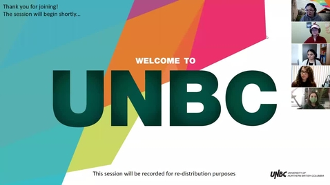 Thumbnail for entry 03.23.2021 UNBC Undergraduate Awards & Financial Aid Information Session
