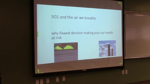 """Thumbnail for entry David Bowering & Greg Knox - """"Sulphur Dioxide Pollution: Health Impacts and Mitigation Options"""""""