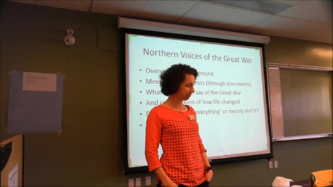 """Thumbnail for entry Maureen Atkinson - """"Northern Voices of the Great War"""""""
