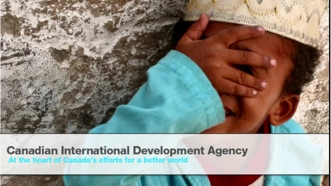 Thumbnail for entry Global Fridays - September 21 2012 - Aid Effectiveness – Unpacking Accountability, Responsibility and Results - Rebecca Mellett, Canadian International Development Agency (CIDA)