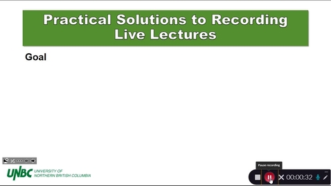 Thumbnail for entry Lecture Capture for On-Campus Courses