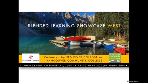 Thumbnail for entry Blended Learning Showcase 2021: 01 Elder and Welcome