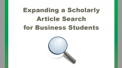 Thumbnail for entry Expanding a Search - Business