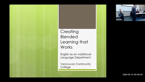 Thumbnail for entry Teaching Learning Symposium 2020: #08, Blended Learning