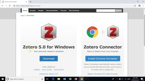 Thumbnail for entry Zotero Installation Instructions