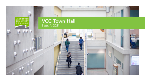 Thumbnail for entry VCC Town Hall, Sept. 1, 2021
