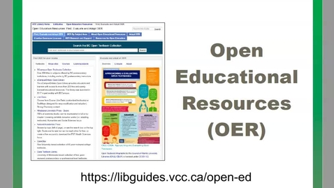 Thumbnail for entry Finding Open Educational Resources