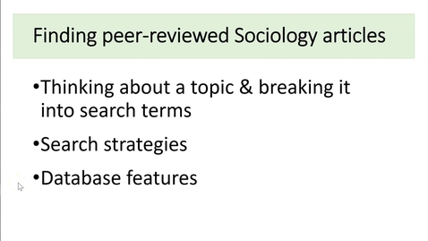 Thumbnail for entry Sociology Database Search