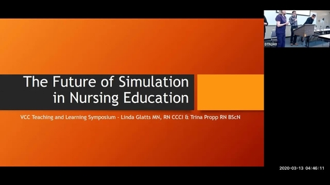Thumbnail for entry Teaching Learning Symposium 2020: #02, Future of Simulation in Nursing Education