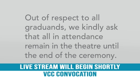 Thumbnail for entry VCC Fall Convocation, 2019