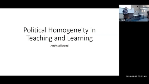Thumbnail for entry Teaching Learning Symposium 2020: #05, Andy Sellwood