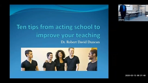 Thumbnail for entry Teaching Learning Symposium 2020: #07, Acting Tips