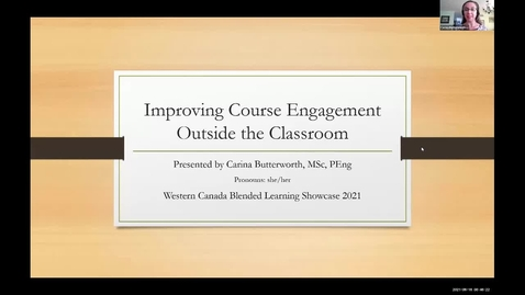 Thumbnail for entry Blended Learning Showcase 2021: 02 Course Engagement