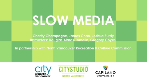 Thumbnail for entry Slow Media and Wellbeing - HUBBUB #3 Pitch